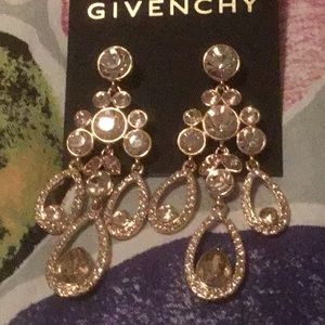 Givenchy Gold Circular & Oval Chandelier Earrings